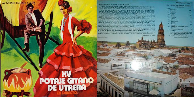 "GASPAR DE UTRERA, MIGUEL EL FUNI, PEPA DE UTRERA, PACO CLAVERO,PEDRO PEÑA ""XV POTAJE GITANO DE UTRERA"" LP 1971 MOVIEPLAY"