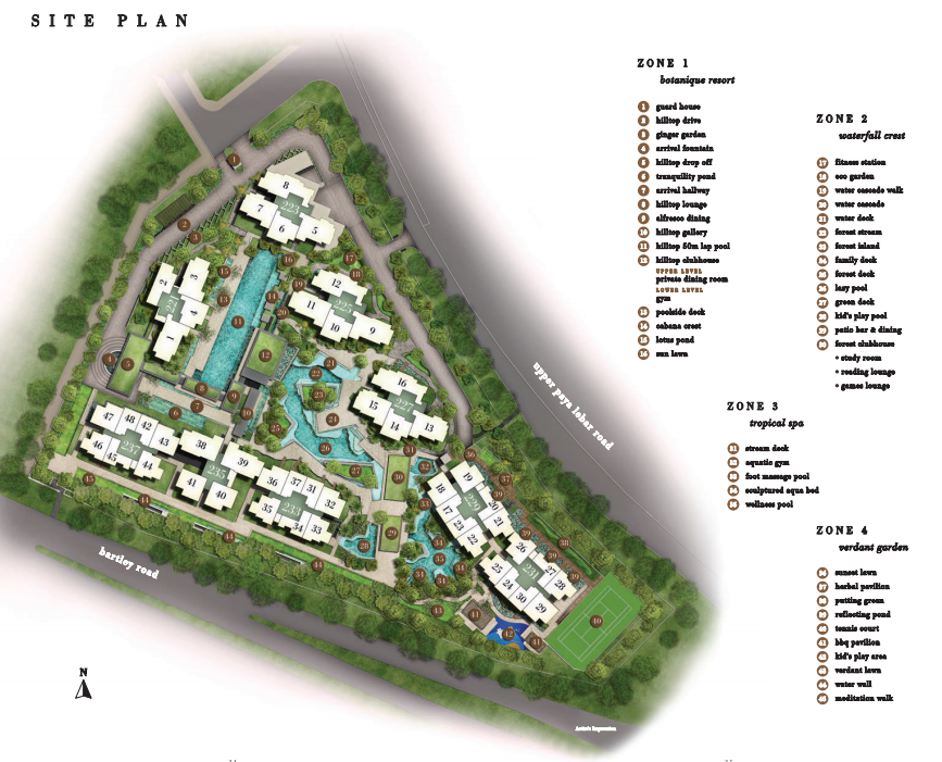 botanique at bartley site plan