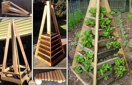how to build vertical planter lettuce