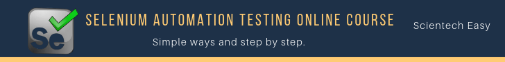 Selenium automation testing tutorial