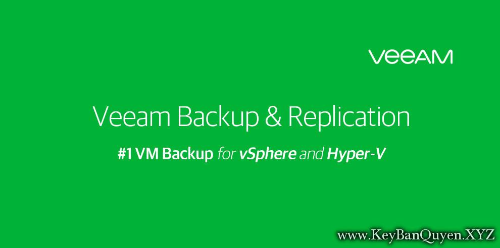 Veeam® Backup & Replication 9.5 Full Key Download, Phần mềm sao lưu và phục hồi hệ thống ảo hóa.