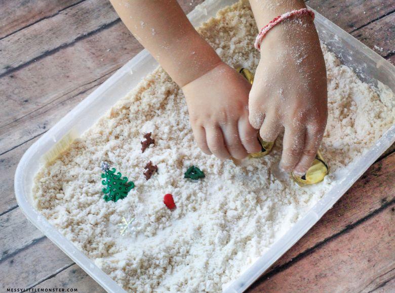 homemade snow recipe - sensory play recipes for kids