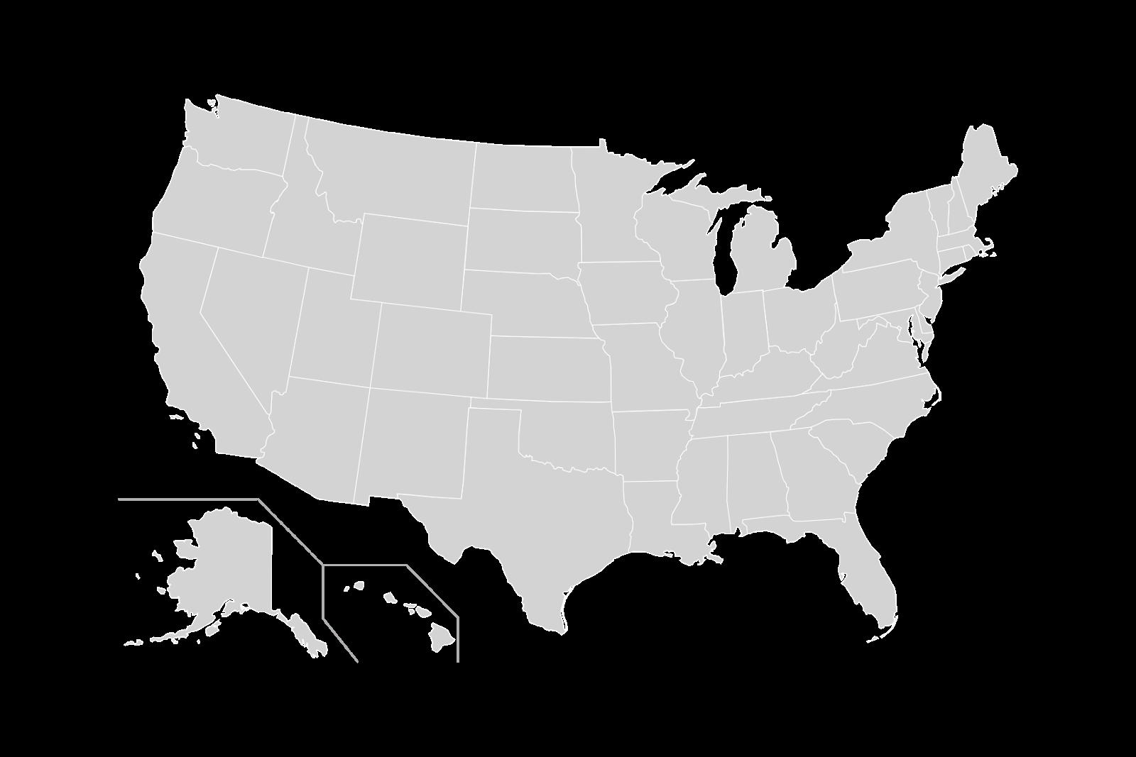 Blank US Map Vector