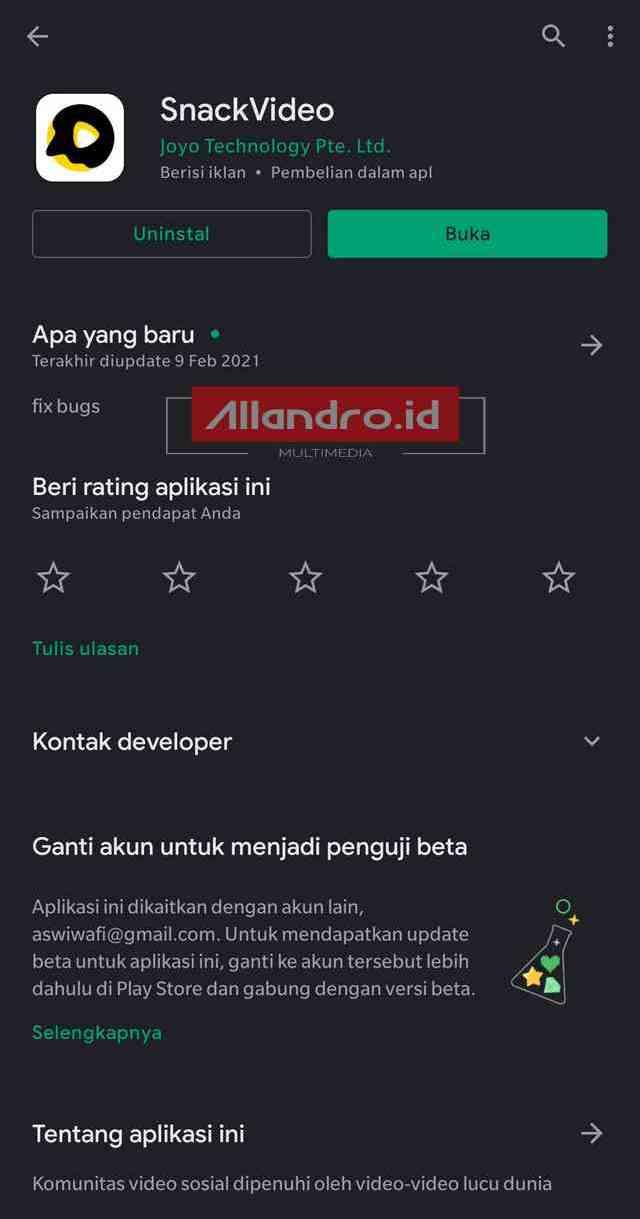 download aplikasi snackvideo