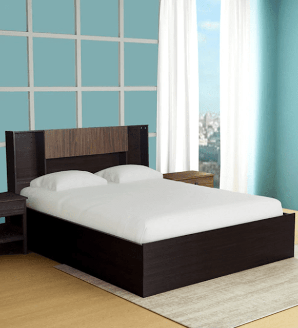 Kaori King Size Storage Bed In Wenge Finish by Mintwud