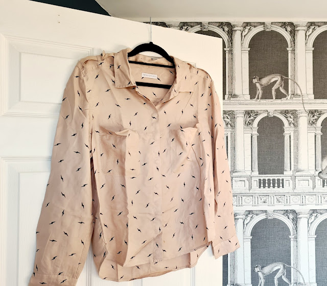 Whistles silk lighting bolt shirt
