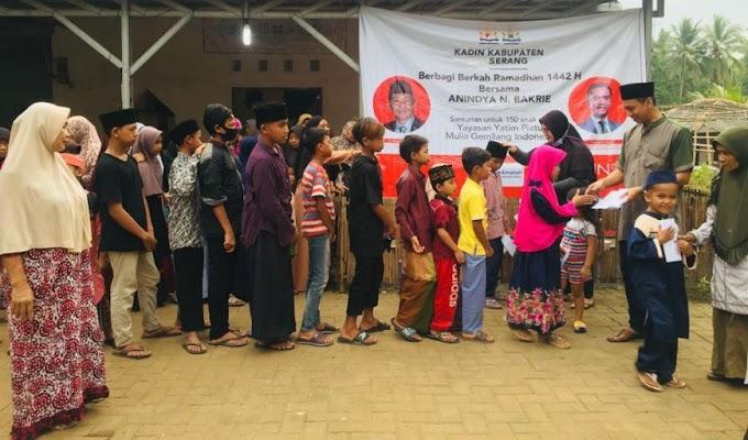 Berbagi Berkah Ramadhan, Kadin Kabupaten Serang Santuni 150 Anak Yatim
