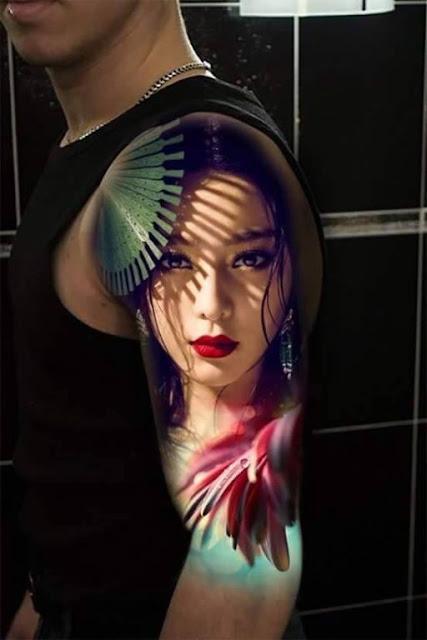realistic gheisa tattoo