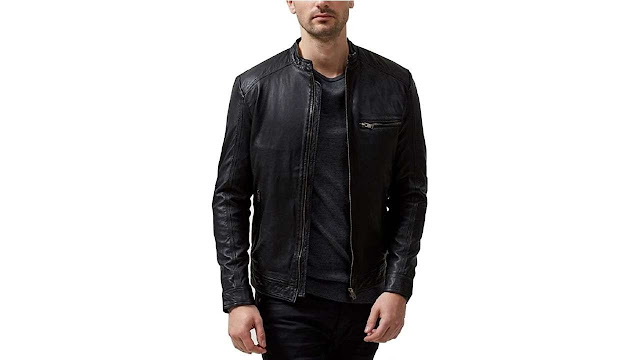 Sparta Black Classic Leather Jacket