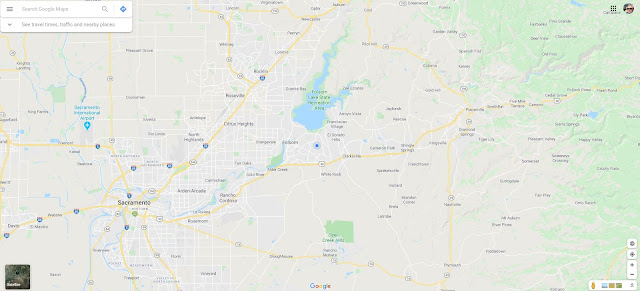 Map showing 35 miles around TireKicker World Headquarters in Folsom, CA