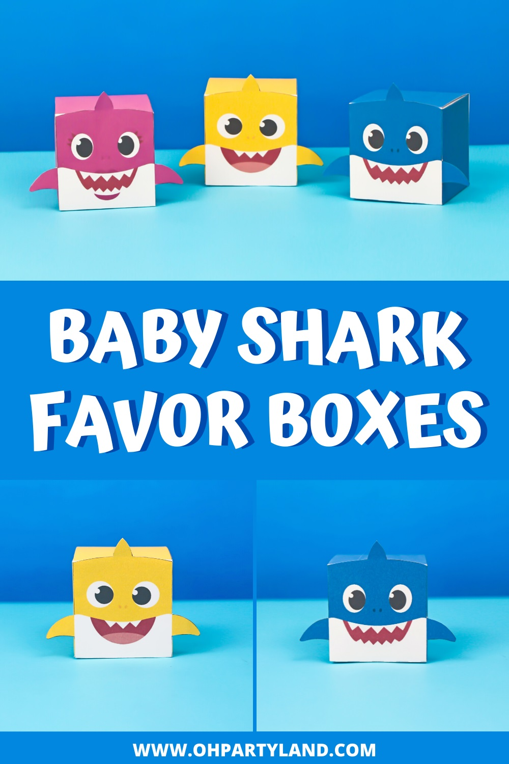 baby shark favor boxes