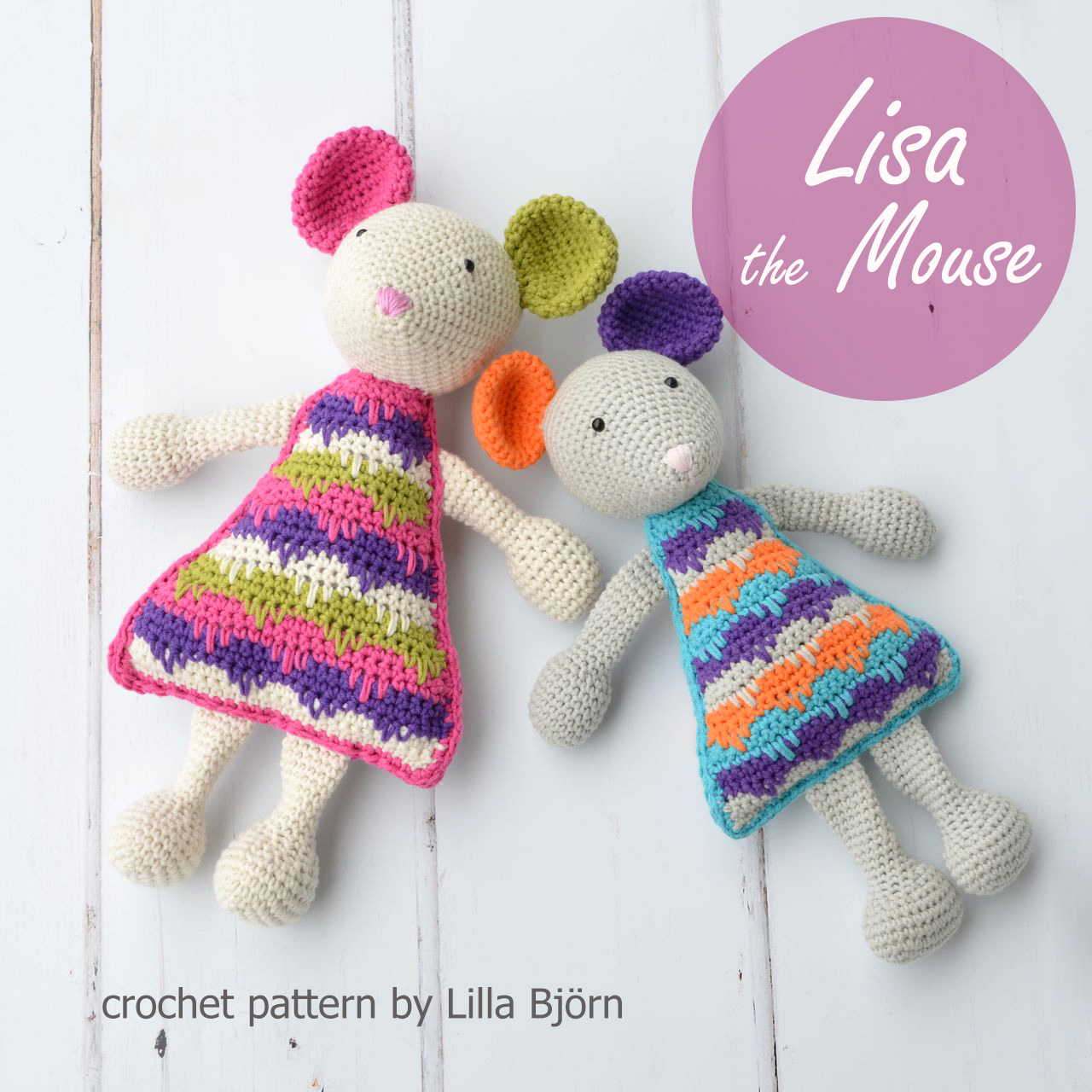 Lisa the Mouse - amigurumi crochet pattern by Lilla Bjorn