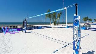 Contoh Gambar Lapangan Bola Voli Pantai