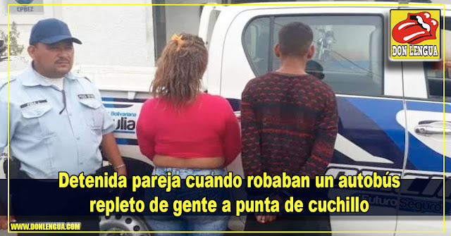 Detenida pareja cuando robaban un autobús repleto de gente a punta de cuchillo