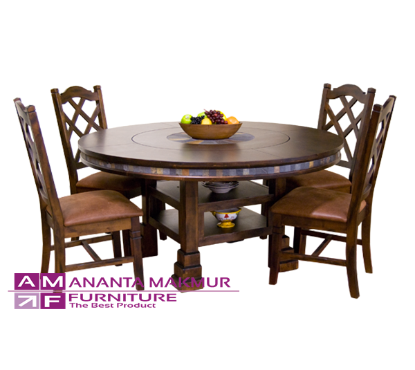 contoh model meja makan bundar