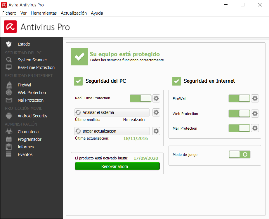 Avira 2016 Antivirus Pro full Español