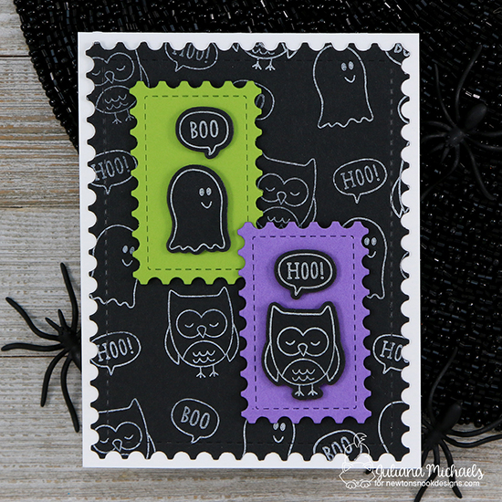 Halloween Boo Hoo Card by Juliana Michaels | Boo Hoo Stamp Set by Newton's Nook Designs #newtonsnook #handmade #halloween