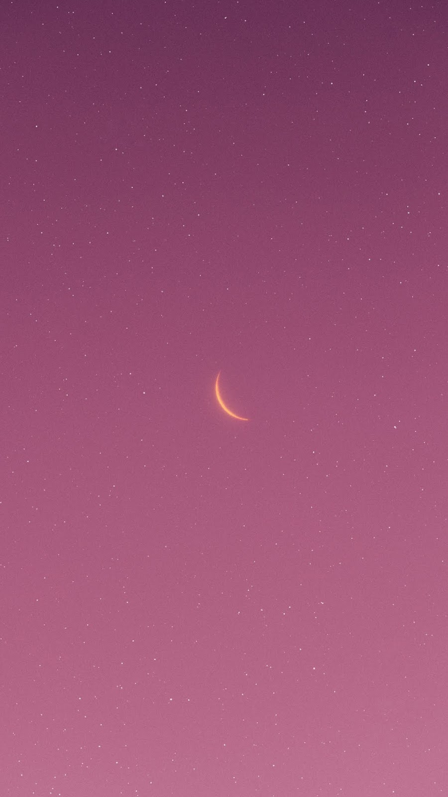 Aesthetic crescent moon
