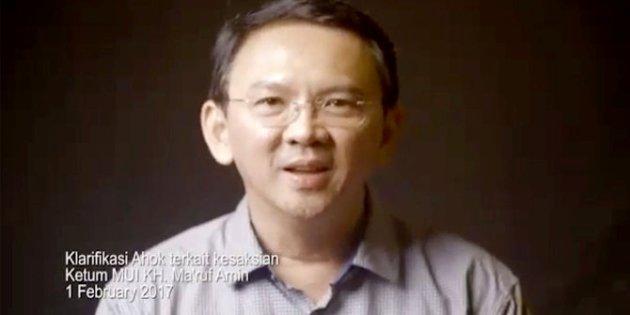 Video: Ahok Klarifikasi dan Minta Maaf Kepada KH Maruf Amin dan Warga NU