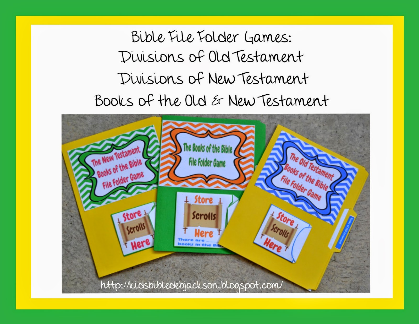Bible Fun For Kids What Is A File Folder Game