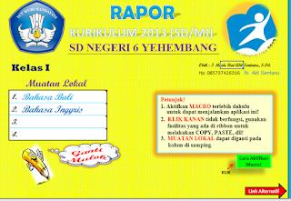 Aplikasi Rapor K13