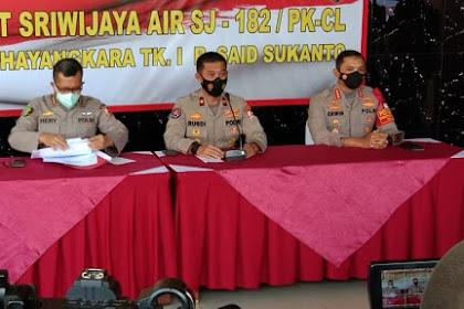 DVI Polri Terima 16 Kantong Jenazah Korban Pesawat Sriwijaya Air