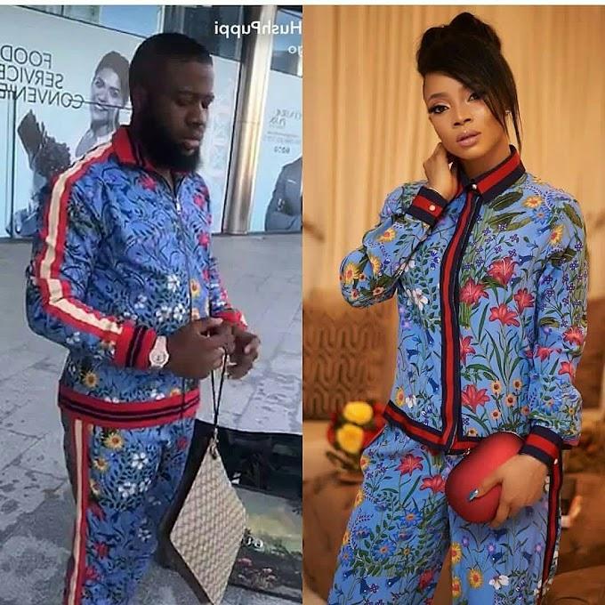 Gucci 1.2 million pajamas who rocks it better? Hushpuppi or Toke Makinwa