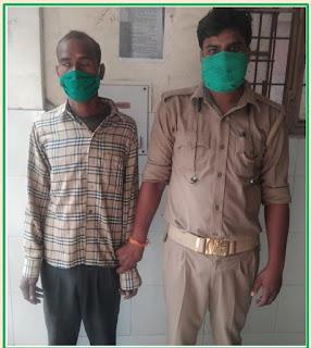 कानपुर: थाना चकेरी पुलिस टीम द्वारा पॉक्सो एक्ट में वांछित दुराचारी अभियुक्त को गिरफ्तार किया