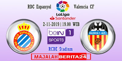 Prediksi Espanyol vs Valencia — 2 November 2019