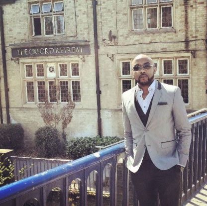 Fire guts Banky W's home