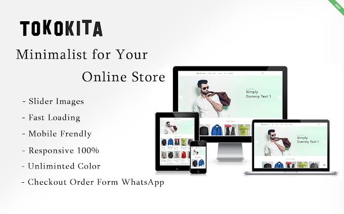 TokoKita Minimalist, Template Toko Online Premium Blogspot terbaik Menggunakan WA Order