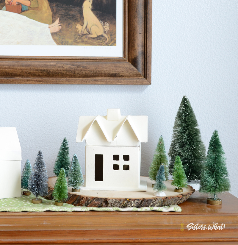DIY minimalist Christmas House