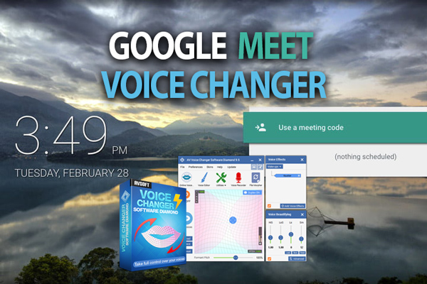 Change voice in Google Meet with Voice Changer Software