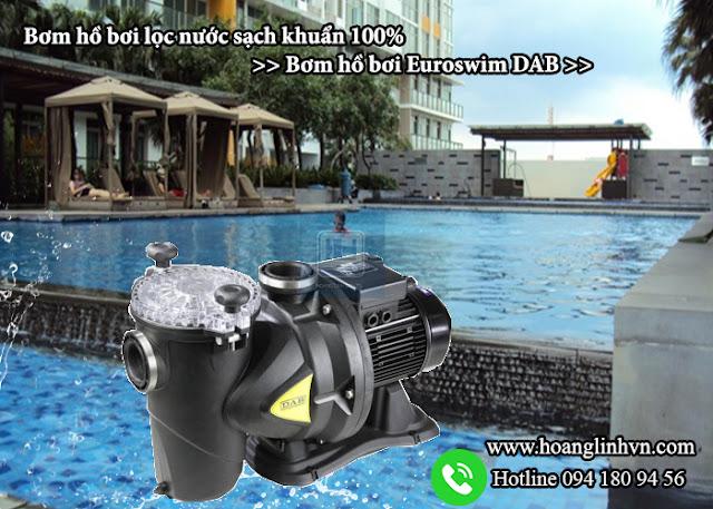 Bơm hồ bơi lọc nước sạch khuẩn 100 - Bơm hồ bơi Euroswim DAB
