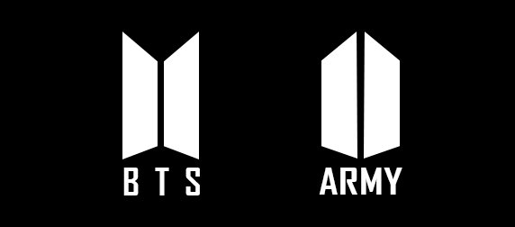the bts and bts army logo side by side