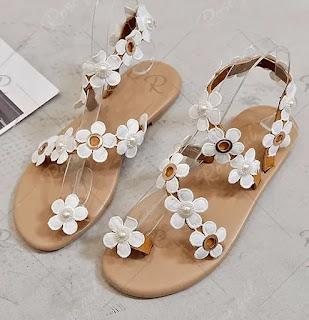 Flower Pattern Summer Casual Sandals