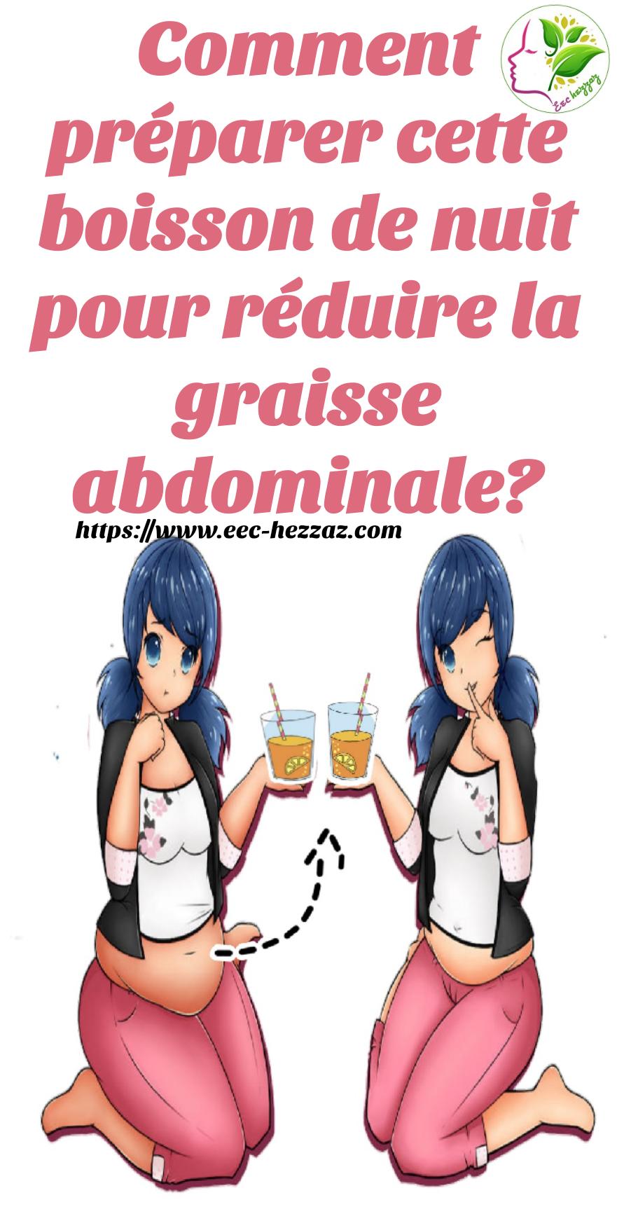 Comment préparer cette boisson de nuit pour réduire la graisse abdominale?