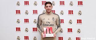 Fede Valverde MVP del mes de diciembre de 2019 de Mahou