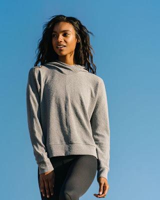 zyia active new release wednesday, zyia active sweatshirt, gray textured sweatshirt, zyia hoodie sweatshirt, shop zyia active