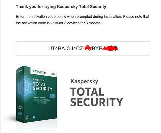 Kaspersky Total Security serial gratis