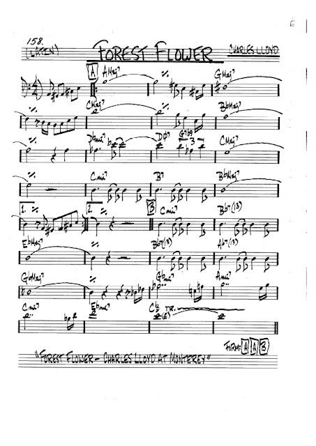 Partitura Violonchelo Charles Lloyd