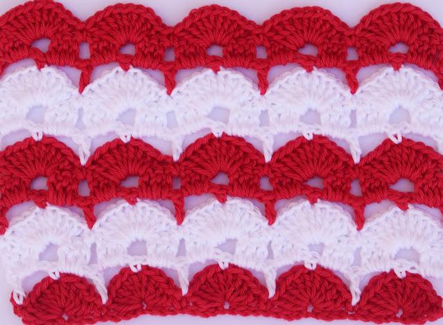 6 - Crochet Imagen Puntada de abanicos para blusas y jerseys por Majovel Crochet
