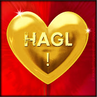 'HAGL'  text on gold heart free image for texting