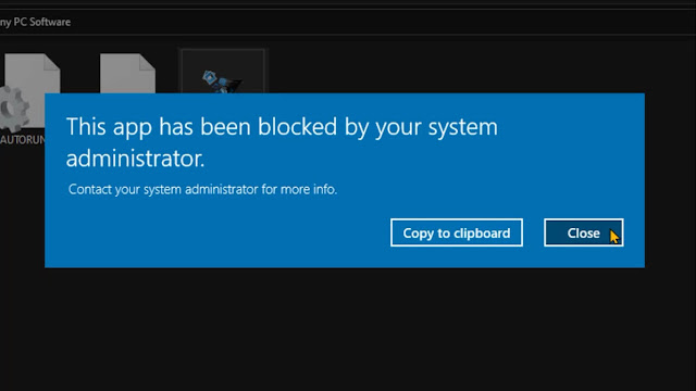 حل مشكلة this app has been blocked by your system administrator تم حظر التطبيق من قبل مسؤول النظام