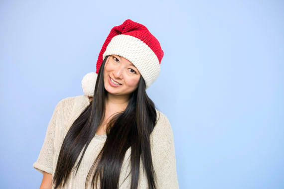 santa christmas hat crochet pattern