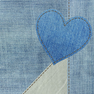 Blue denim heart