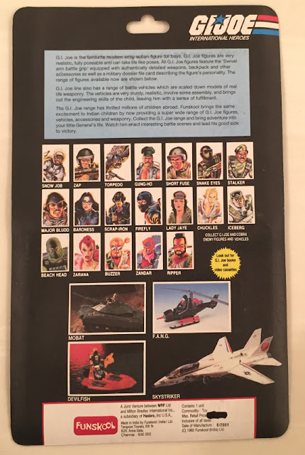 Funskool Street Hawk, Snake Eyes, RAM, MOC, India, G.I. Joe