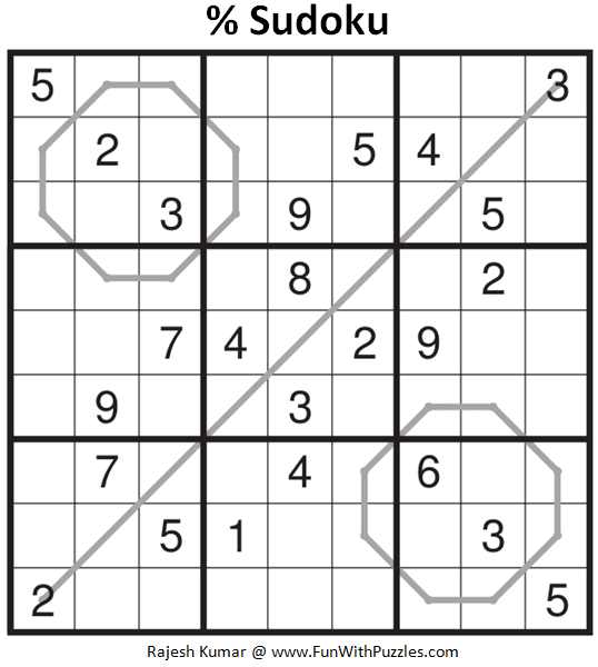 % Sudoku Puzzle (Daily Sudoku League #214)