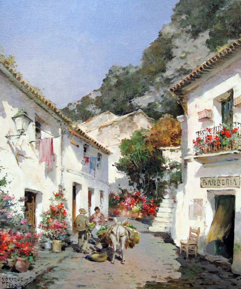 Pintura moderna y fotograf a art stica pintores famosos de paisajes al leo - Casas de famosos en espana ...