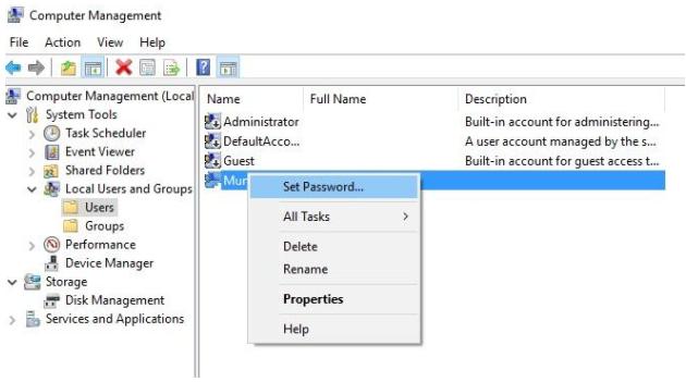 computer set password